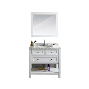 White Small Commercial Solid Wood 30 Inch Cabinet Used Bathroom Vanity From China