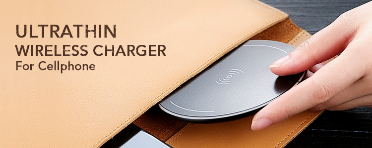 Wholesale 5V 1A Ultra-thin Aluminum wireless charger cell phone usb charging station