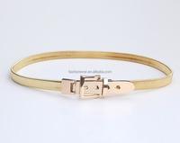 Fashion Elastic Waistband Women Simple Metal Belts Ladies Gold Metal Waist Chain Belt Skinny Slim Belts For Women