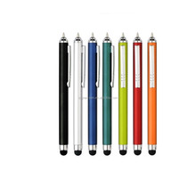 Beautiful color body and Screen touch stylus pen with metal clip ball point pen for school and office