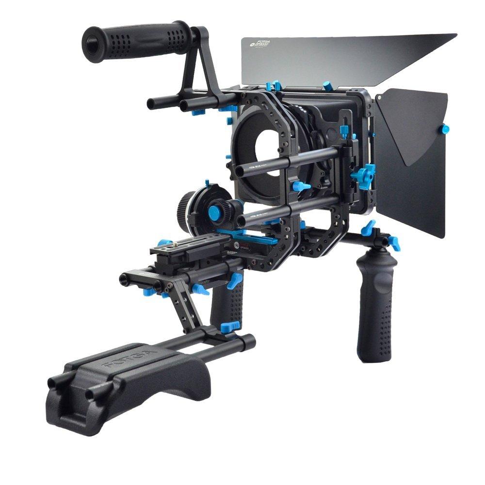 FOTGA DP3000 DSLR Rig Set Movie Kit Shoulder Mount Rig Shoulder Stabilizer Support System with Follow Focus + Matte Box +Top Handle+ Handle Grip for DSLR Cameras and Video Camcorders