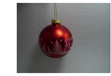 Fashionable Inside Clear Glass Ball Christmas Tree Ornament