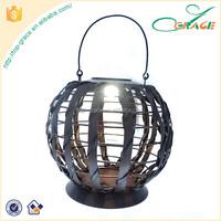 Metal outdoor solar lantern storm lantern