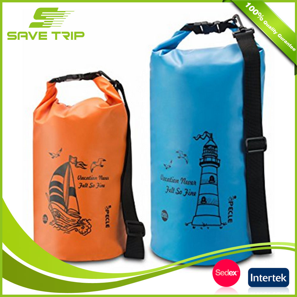 Customized Color Logo Durable Detachable Shoulder Strap Waterproof Outdoor PVC Dry Bag Keep Gear Dry, Hiking Dry Bag Water Bag