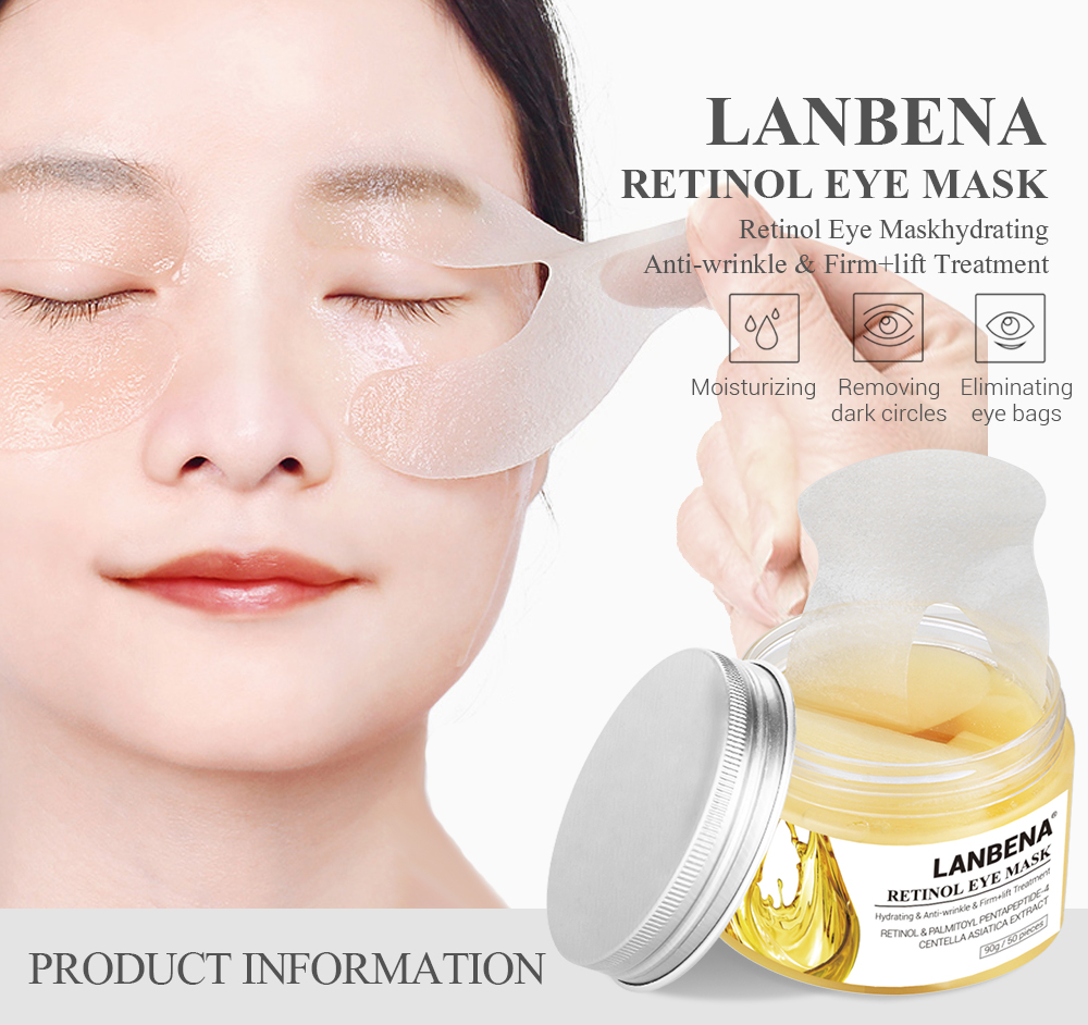 LANBENA retinol eye mask pads for puffy eyes, View retinol eye mask,  LANBENA Product Details from Shenzhen Qianzimei Cosmetics Co , Ltd  on