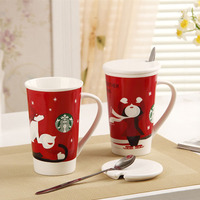 Hot Selling Starbucks Christmas Gift Cups Coffee Mugs Ceramic Custom Logo