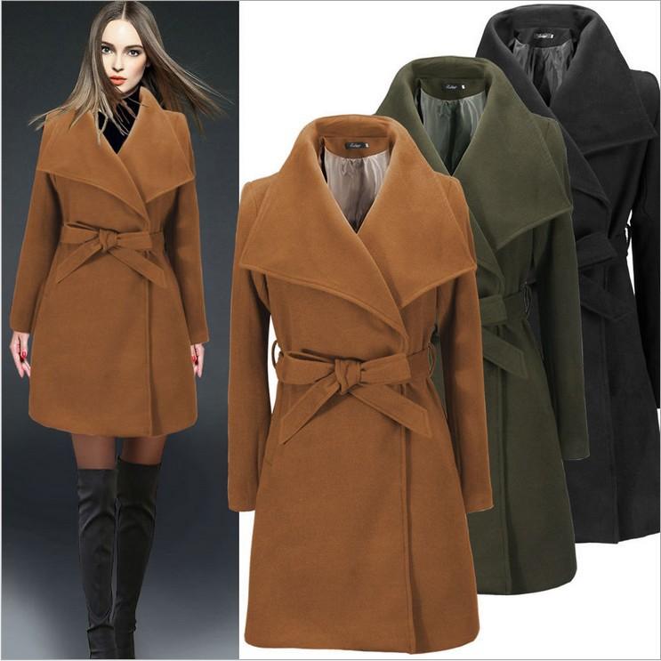 Women Fashion Winter Trench Coat Slim Parka Long Jacket  Warm Outwear Overcoat