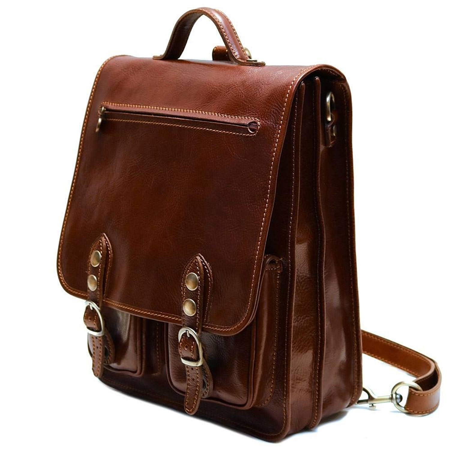 ... Shoulder Backpack  Get Quotations · Floto Poste BackpackCrossbody in  Brown Full Grain Calfskin Leather new arrival 8c789 692ad f5c4343209234