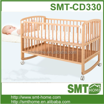 Wooden Baby Cradle/baby Crib/baby Bed - Buy Baby Doll Cribs And Beds on