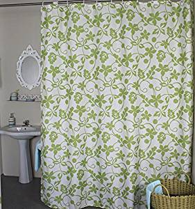Stall Shower Curtain Welwo Fabric Liner Set With HooksRings For Bathroom