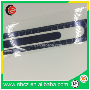 black Round steel ruler for students and office