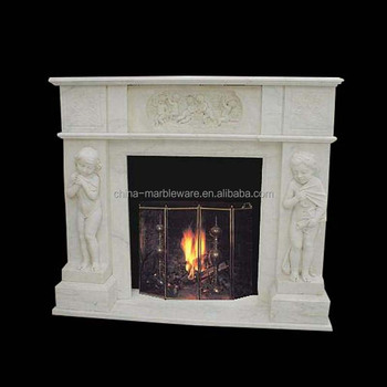 Hot Sale Casting Technique White Marble Fireplace Surround Buy