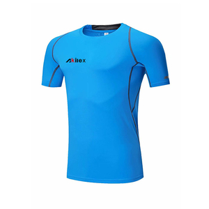 AKILEX STOCK PROMOTION summer design mens soft dri fit breathable sport t shirt for fitness yoga