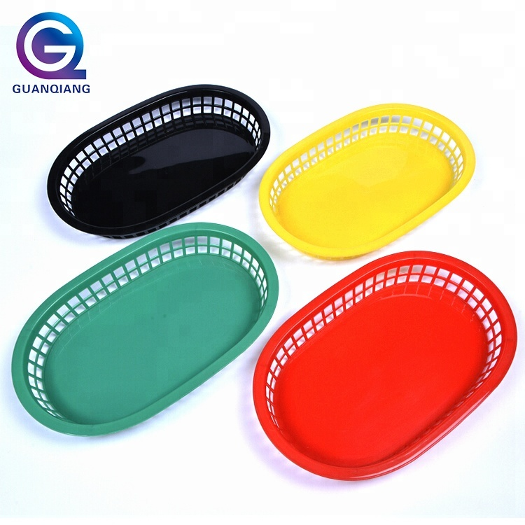 Colorful ovale food grade plastica fast food carrello