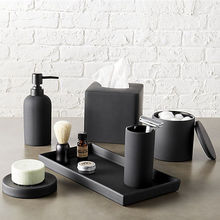 Luxe Matte Black Home <span class=keywords><strong>Badkamer</strong></span> Decoraties Hars <span class=keywords><strong>Badkamer</strong></span> <span class=keywords><strong>Accessoires</strong></span> Set