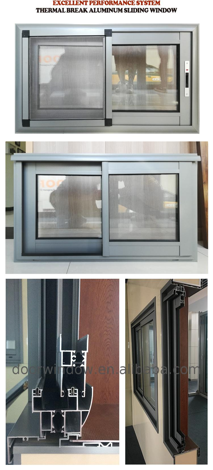 China factory supplied top quality reception desk sliding window rate of aluminium windows powder coated