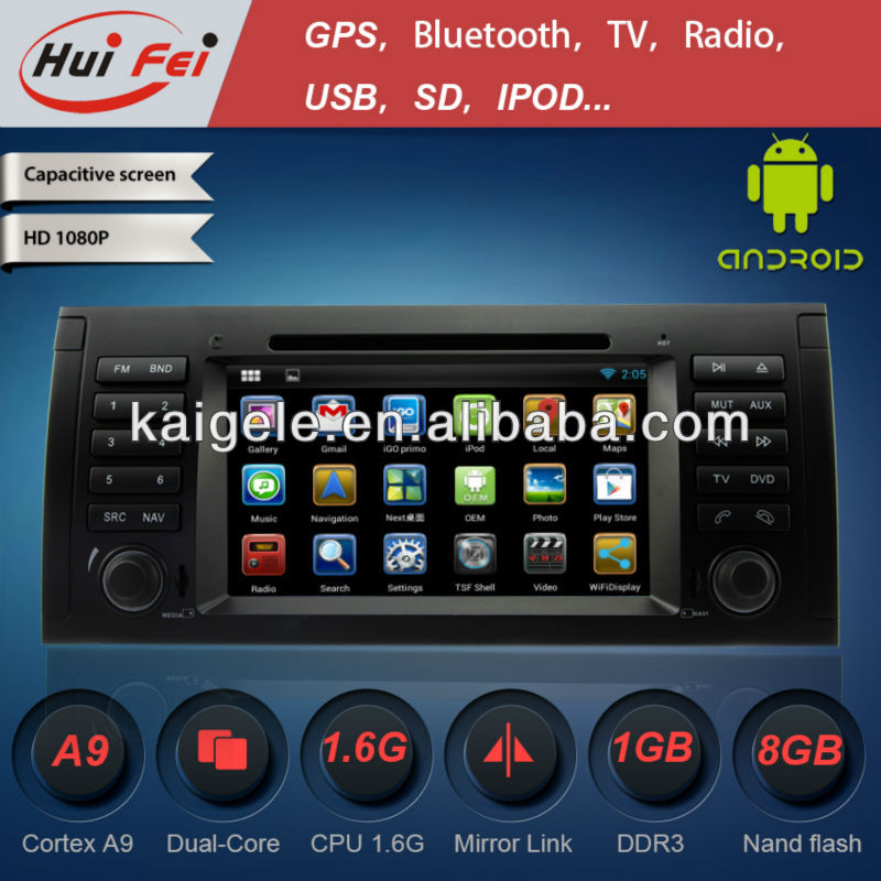The best Huifei Blue tooth hands free call function touch Screen Car DVD audio Player