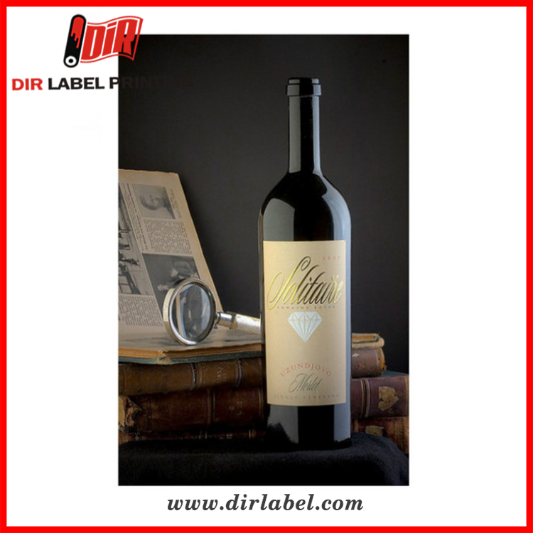 2017 high quality custom wholesale private shipping Red wine sticker self adhesive label
