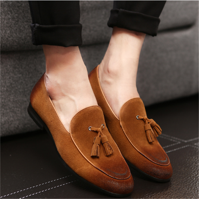 H10108D 2017 classic Brogue Shoe fashion leather loafer shoe for man