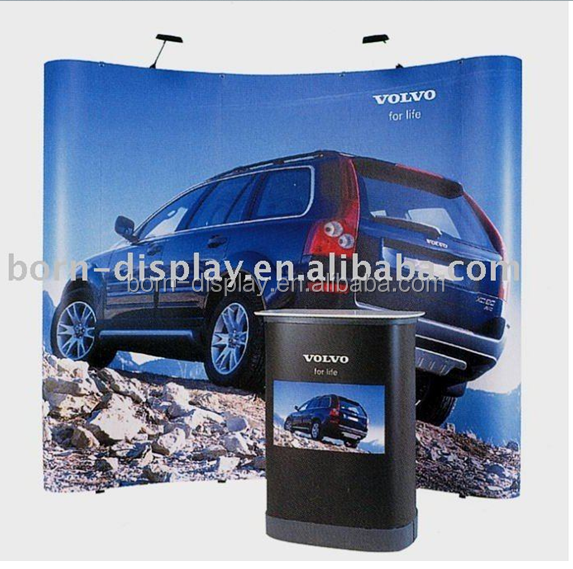 Convenient Advertising Display Magnic Aluminum Material Poles Background Wall 3*3 POP UP Displays for Trade Show