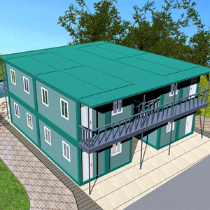 Movable Flat Pack two stories modular container house