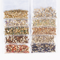 Hot Sale 10 colors Nail Art Rhinestone Mixed Size Rhinestones Nail Art Diamonds