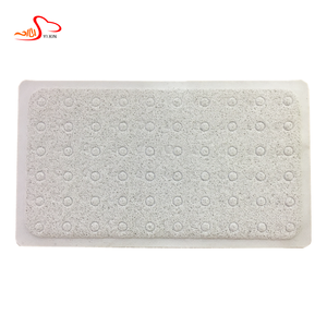 2018 wholesale blank door mat, white shower pvc suction cup mat