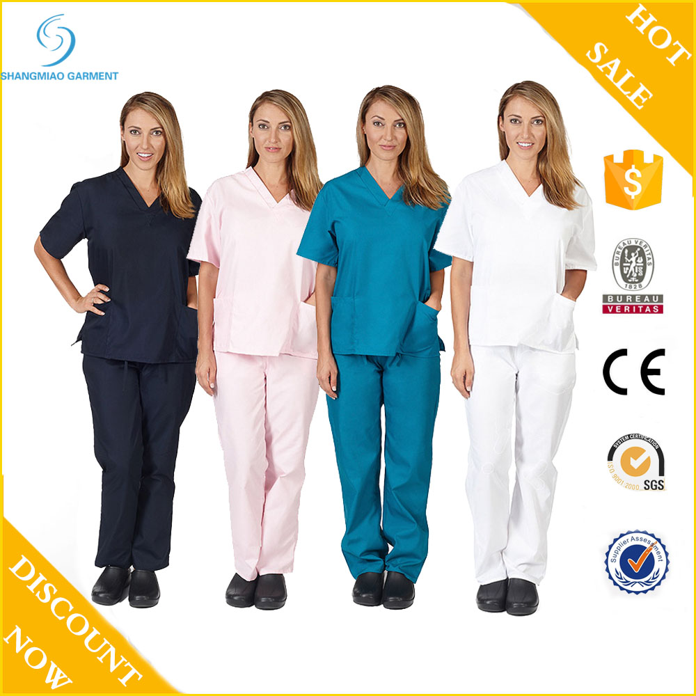 Best quality doctor and nurses uniforms female scrub uniform for doctors