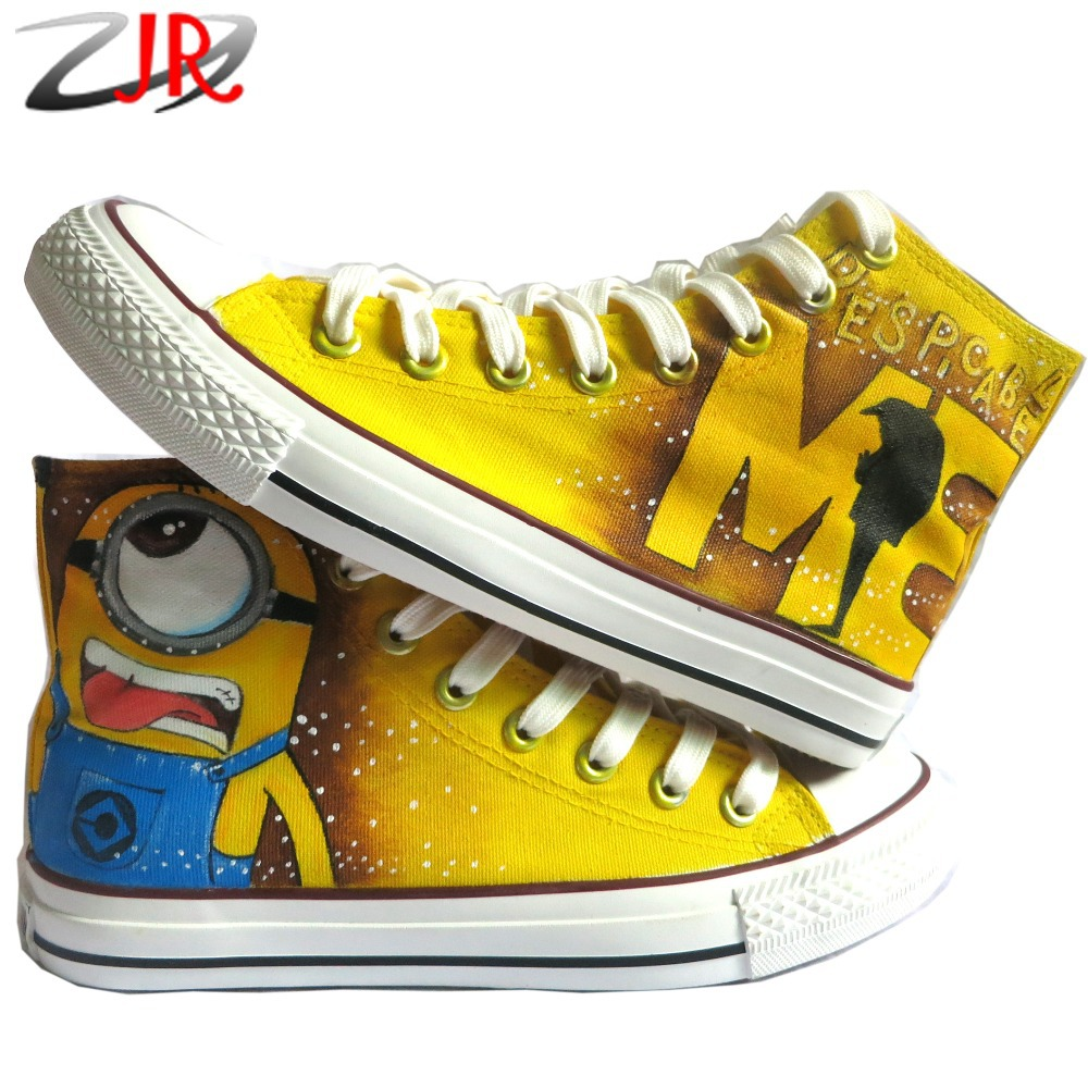 cd998f32d712 Cartoon Anime Figure Women Despicable Me Shoes Minion Shoes Women And Men  Canvas High Tops Sneakers Women Shoes Minions Shoe