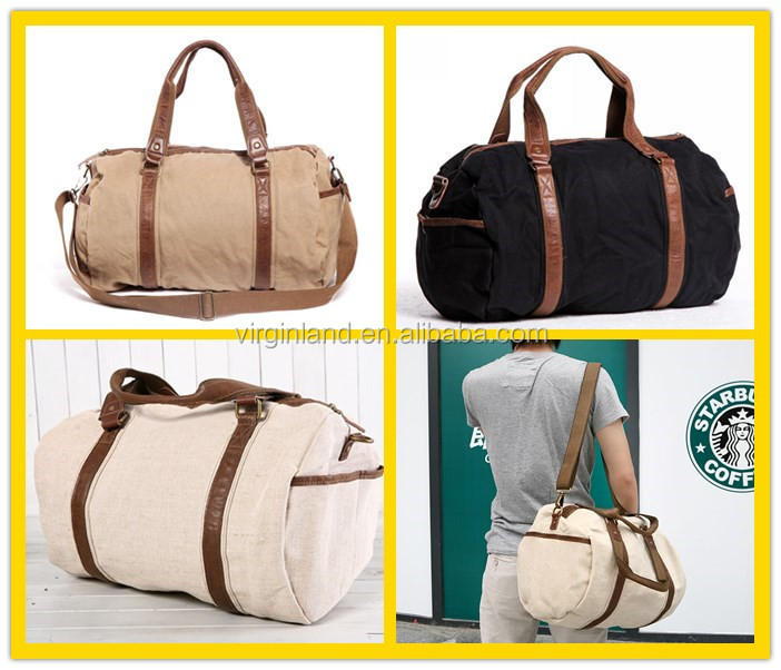 6520 Heavy Duty Retro Custom Canvas Hand Carry Travel Bags Duffel ...