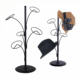 Good stability stainless steel cap hat rack with branch shape