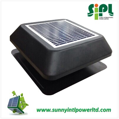 SUNNY 15 watt Polycrystalline Solar Panel Powered Air Circulation Fan Product Roof Ventilation Heat Extractor