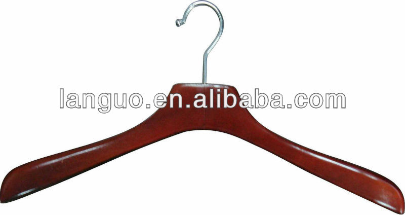 Cherry Wood Clother Hanger with Round Bar