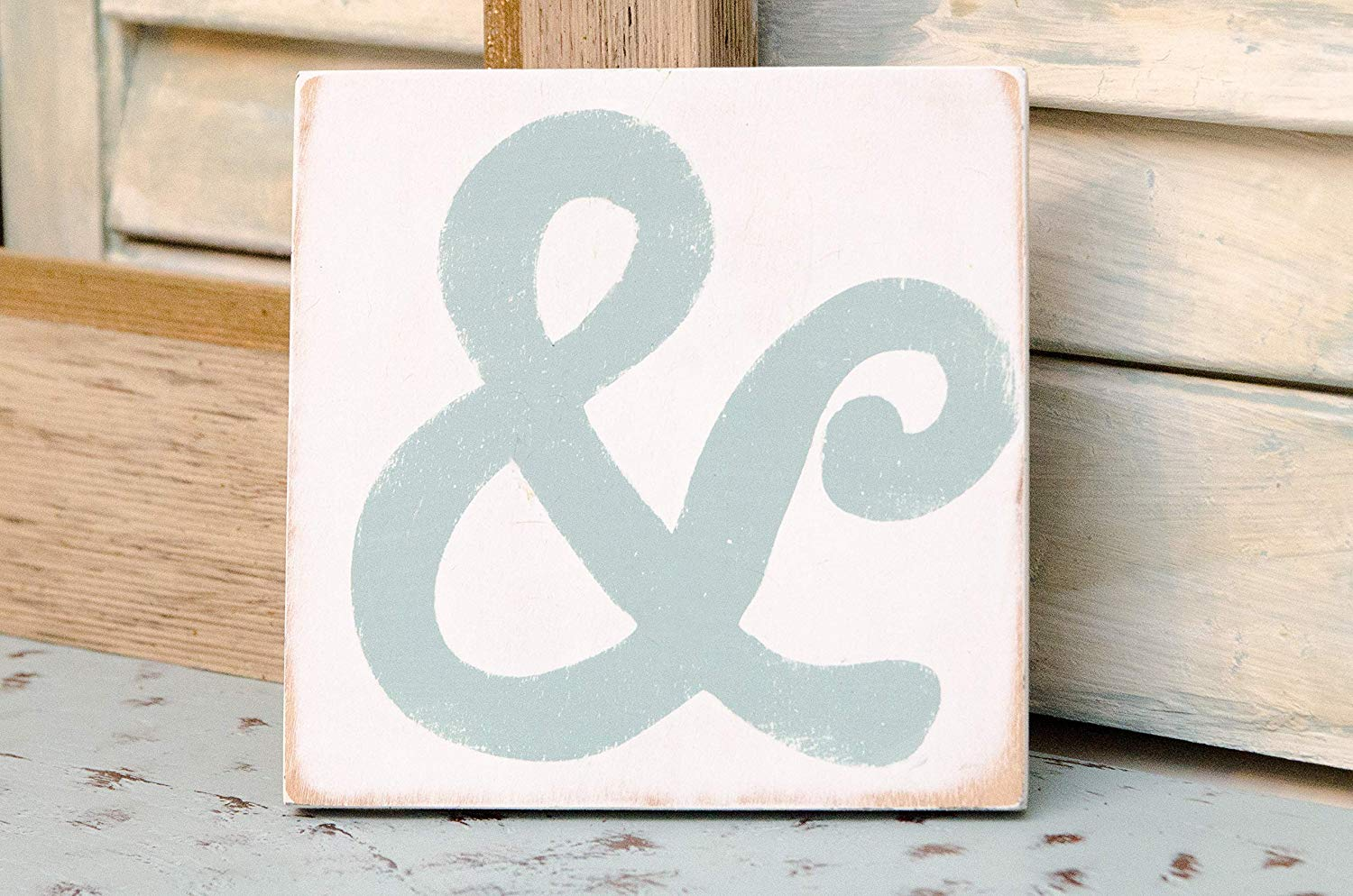 Wood Ampersand Sign - Farmhouse Decor