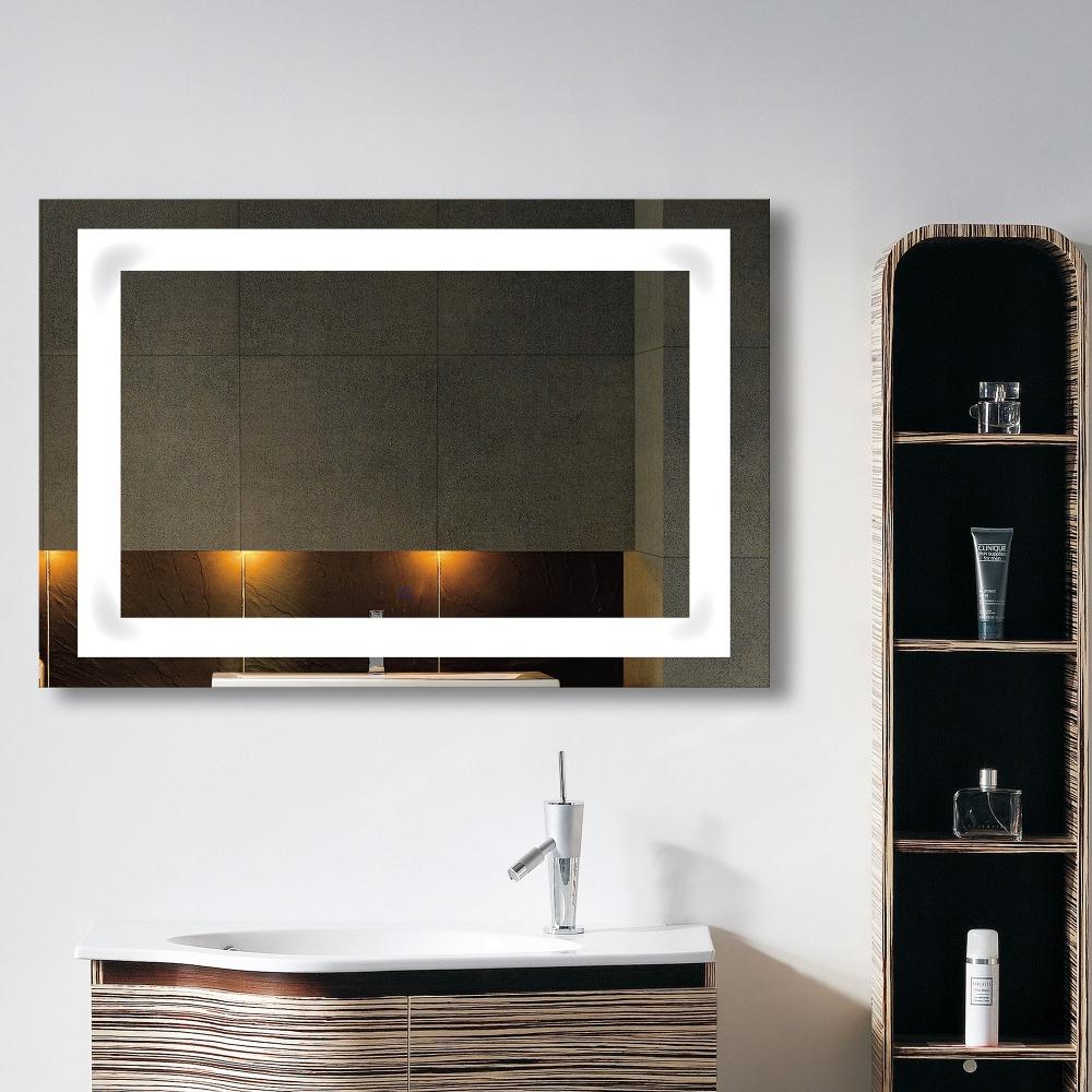 Fuao moderno led cuarto de ba o espejo con luz espejos de for Espejos cuarto de bano modernos