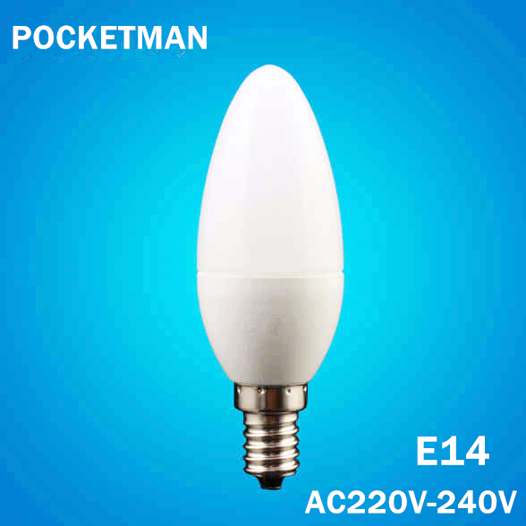 Free Shipping LED Candle Bulb E14 6W LED Candle Lamp low Carbon life SMD2835 AC220 240V