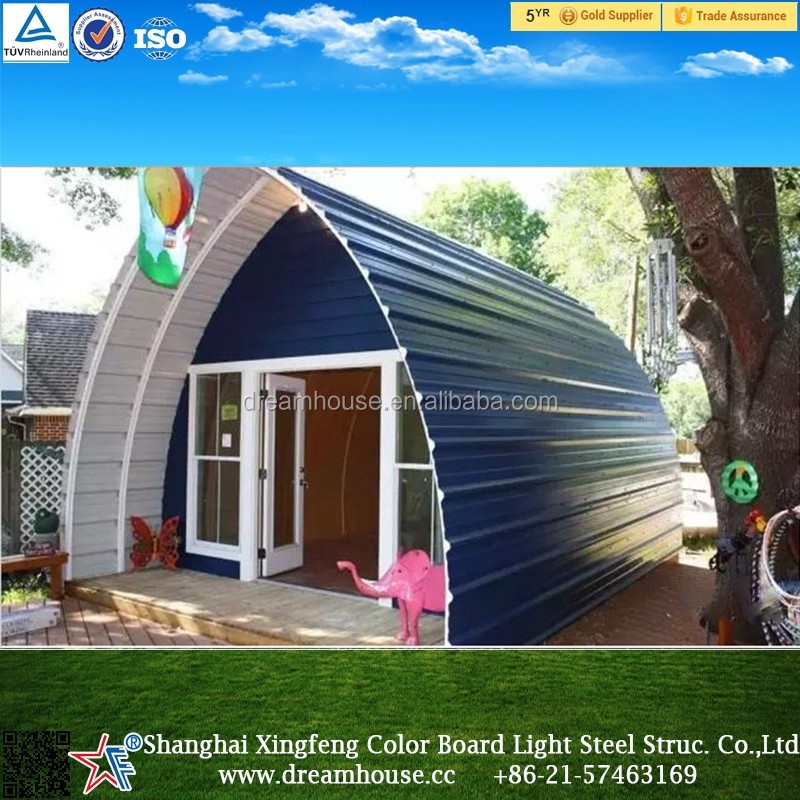 Good Quality Steel Structure Prefab Dome Homes/new Style Cheap Arched Cabin/ Prefabricated Tiny