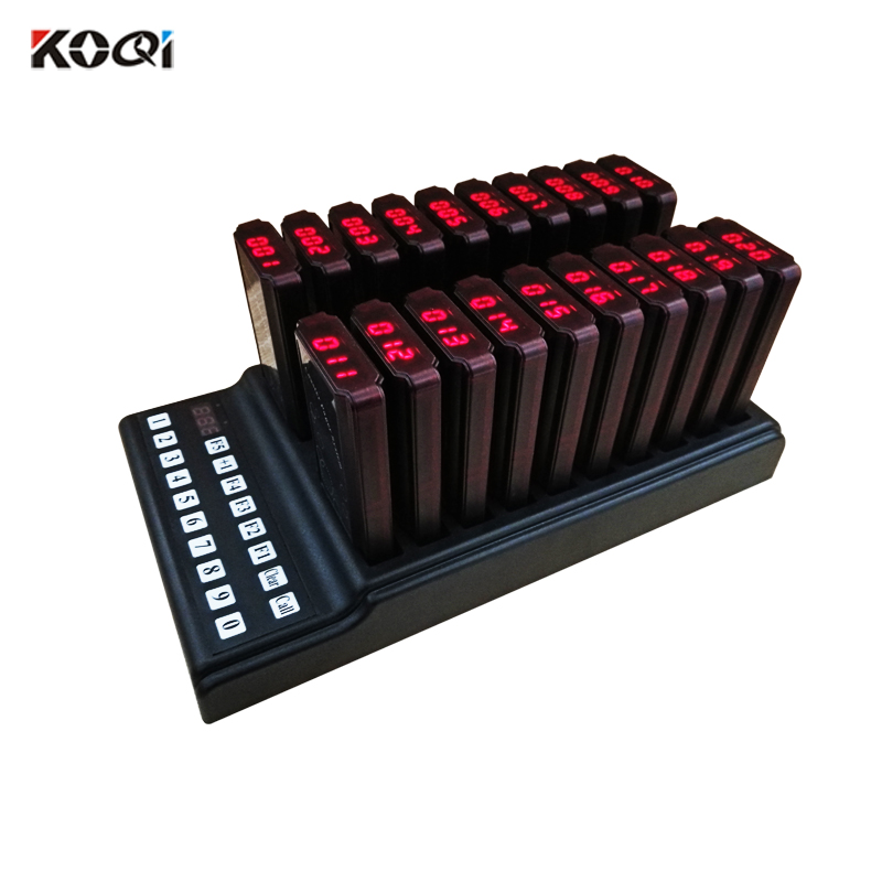 Fast food restaurant customized printing wireless customer coaster pager