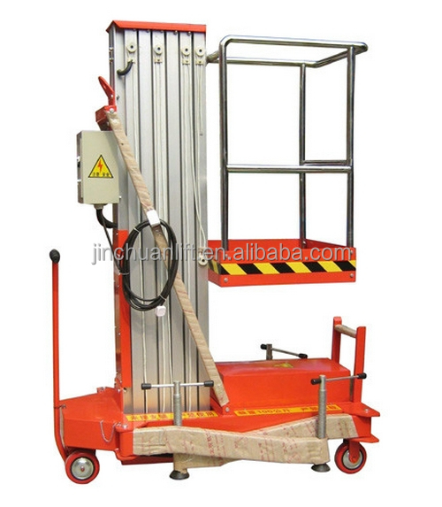 single mast aluminum alloy electric ladder elevator