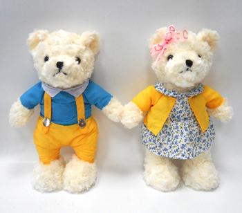 Indah Plush Lucu Boneka Beruang Kain Bulu Pasangan Boneka Beruang