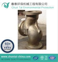 CNC machining y tee bronze pipe fitting