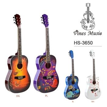 Venta Al Por Mayor 34 Tamaño Pequeño De Dibujos Animados Arte Etiqueta De La Guitarra Acústica Para Niños Buy Guitarra Para Niñospequeña Guitarra