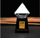 Hottest Pyramid Shape Crystal Glass Trophy Award/ ZB-J1012