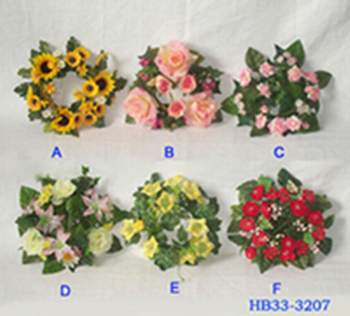Floral candle ring buy silk flowers product on alibaba floral candle ring mightylinksfo