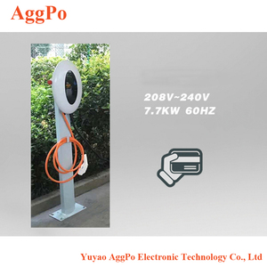 Electric car battery charging outlet, European standard ac charging pile  household charging equipment ev battery charging outlet