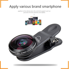No darkness 210 degree super fisheye 10MM universal clip lens with multi layer optics for cellphone