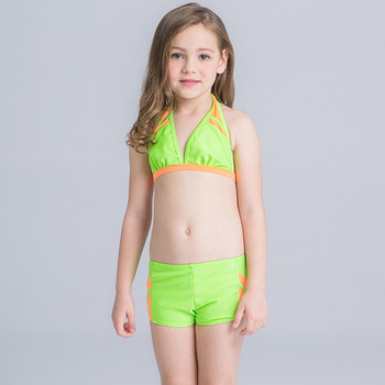 e08aef9500 HT-LGS Hot Cute Two Piece Swimsuit Little Girl's Ruffle Bikini Set Children Girls  2