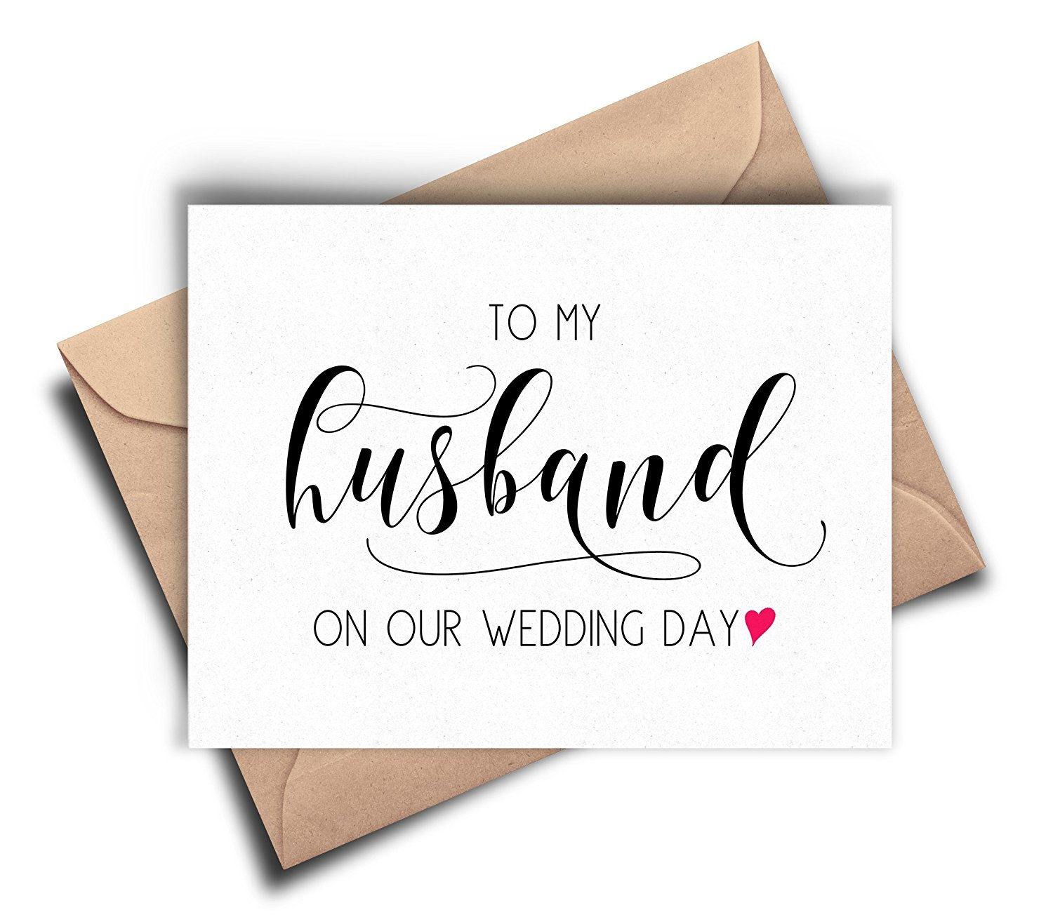 Gift For My Husband On Our Wedding Day: Buy Groom Card From Bride, To My Husband On Our Wedding