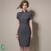 D266 Bandage Latest Cheongsam Style Elegant Office Ladies Dresses