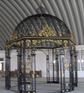 outdoor garden wrought iron pavilion steel pavilion